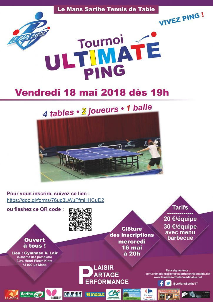 Ultimate Ping 18 mai 2018 Le Mans
