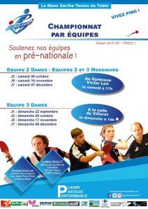Pré-Nationale : Championnat par équipes - Journée 7 - équipe 3 Dames @ salle du Villaret