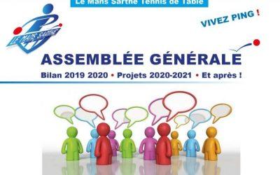 Report de l'Assemblée Générale au 11/09/2020