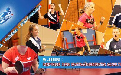 REPRISE DES ENTRAINEMENTS POUR LES ADULTES LE 09/06 !